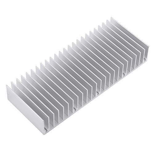 Akozon radiador de Calor de Aluminio Aleta de enfriamiento del disipador de Calor 24 Dientes 150 mm Disipador de Calor denso, 1 Pieza