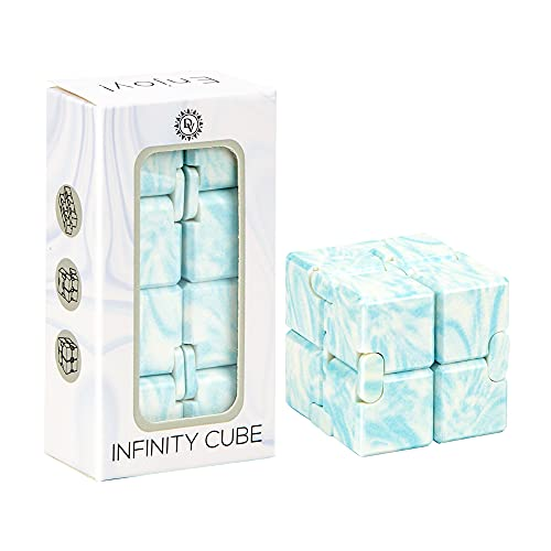 Daily Vibrations | Blue Infinity Cube Fidget Toy |...