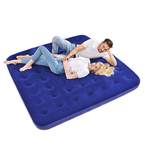 Camping Air Mattress, Portable Air-Bed, Inflatable Mattress Blow Up Bed Free Pillow, Eye Mask, earplugs, Repair Patches Included, Best Gifts for Travel