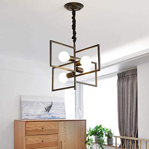 MUZIDP Lámpara colgante retro 4-luz lámpara colgante vintage mesa de comedor creativo diseño colgante luz de metal lámpara lámpara lámpara colgante lámpara de techo para cocina comedor loft restaurant