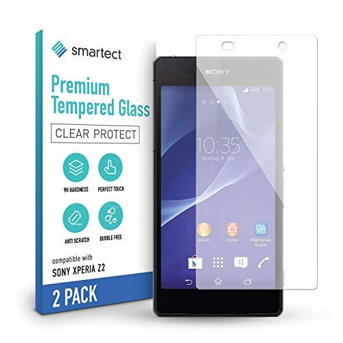 smartect Schutzglas kompatibel mit Sony Xperia Z2 [2 Stück] - Tempered Glass mit 9H Festigkeit - Blasenfreie Schutzfolie - Anti-Kratzer Bildschirmschutzfolie