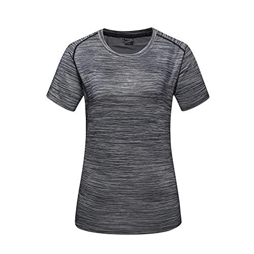 DamaiOpeningcs Camiseta deportiva funcional, de manga corta para hombres y mujeres, color gris oscuro, XL.