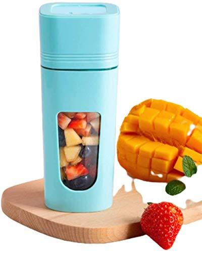 Mini batidor de smoothies Tritan Bpa 350 ml, ideal para batidos, batidos de leche, pachos, helados compactos y triturados, frutas en cubitos, azul, azul