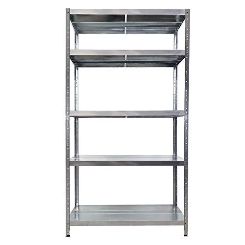 Scaffalatura metallica Maciste - ALTA PORTATA - scaffale in metallo Zincato - 120x50x195h - 5...