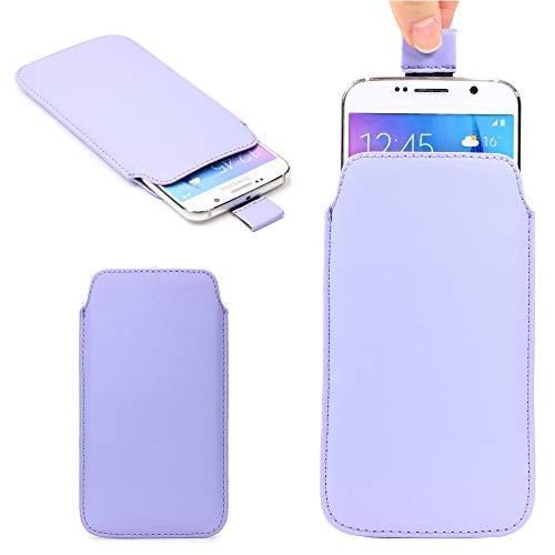 Urcover Universal Schutzhülle kompatibel mit 5,5 Zoll Handys Hülle Schale Pull Tab Etui Cover Case Lila