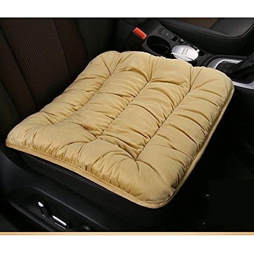 QXXKJDS - Coprisedile per auto, universale, in peluche, in finta pelliccia, per sedili auto, accessori interni auto, colore: beige