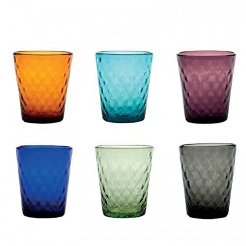Zafferano Balloton Tumbler Set 6 Wassergläser in unterschiedlichen Farben