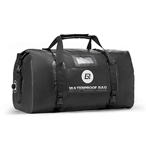 ROCKBROS Waterproof Duffel Bag 60L Motorcycle Travel Dry Duffel Bag for Motorcycling Boating Kayaking Camping Fishing Outdoor Adventure for Men Women