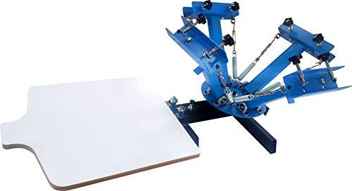 SPM Screen Printing Press 4 Color 1 Station Screen Printing Press...