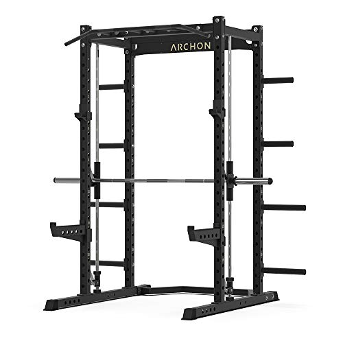 ARCHON Power Cage and Attachments | Squat Rack | Power Cage | Power Weight Rack | Power Rack | Bench Press Stands| Powerlifting | Pullups (A: Cage)