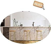 PLLP バー、カフェ、レストランの椅子、椅子のオフィスの椅子の机の椅子3個セットバースツールBarstools朝食キッチンダイニングチェアフットレストシート高さ45/65 / 75Cm,ゴールド,75Cm