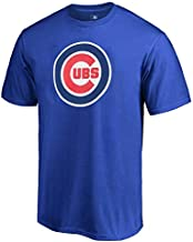 Outerstuff MLB Youth 8-20 Team Color Cool Base Polyester Performance Primary Logo T-Shirt (Large 14/16, Chicago Cubs)