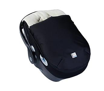 Kutnik Saco de abrigo universal polar para silla de coche - Negro y crema