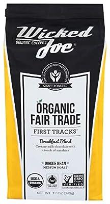 Wicked Joe Organic Coffee Breakfast Blend Whole Bean, 12 oz
