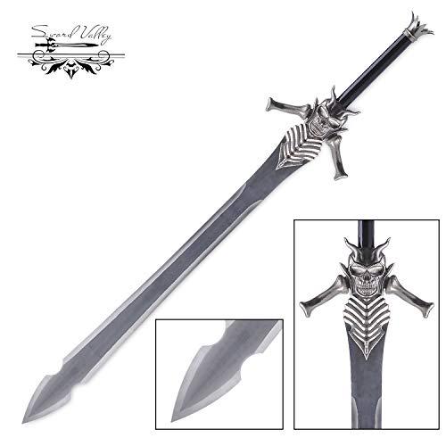 Sword Valley® Handgemachtes Cosplay Anime Schwert, Edelstahl, Kohlenstoffstahl, Rebellion, Western Style Schwert, Cosplay vom Devil May Cry Game