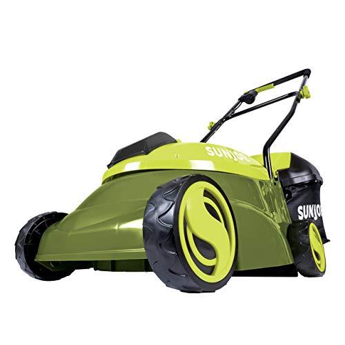 Sun Joe MJ401C-XR 14-Inch 28V 5 Ah Cordless Lawn Mower w/Brushless Motor, Green (Renewed)