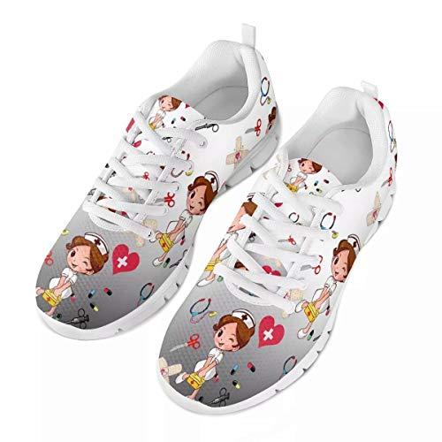 chaqlin - Zapatillas de correr para mujer y hombre, con cordones para correr y fitness, para caminar, ligeras, para deportes al aire libre, color, talla 39 EU