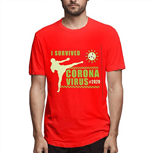 I Survived Coronavirus - Camiseta de manga corta para hombre