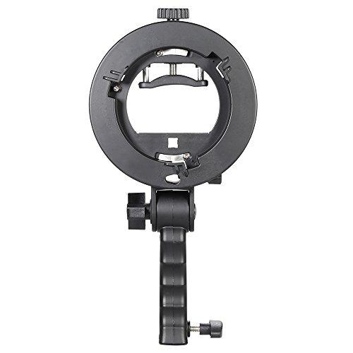 Andoer S-frmige Handheld Grip Portable Bowens Mount Speedlight Halterung für Taschenlampe Softbox Unterstützung reflektierend Regenschirm und Anderen Fotografie-Studio-Zubehr