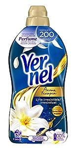 Vernel Suavizante Lavadora Concentrado Aromaterapia Aceite de Jazmín y Lirio - 57 Lavados (1.31 L)