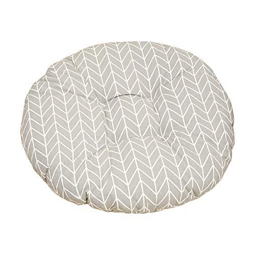 Nowbetter Coussin rond pour chaise de bureau, salle à manger, meubles de jardin - Motif flèche grise - 50 x 11 cm