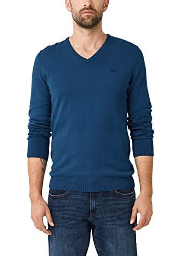 s.Oliver Herren 130.11.899.17.170.1267925 Pullover, Blau (Freedom Blue), Medium