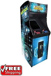 Creative Arcades Full-Size Commercial Grade Cabinet Arcade Machine | 60 Classic Games | 2 Sanwa Joysticks | 2 Stools | 3-Year Warranty