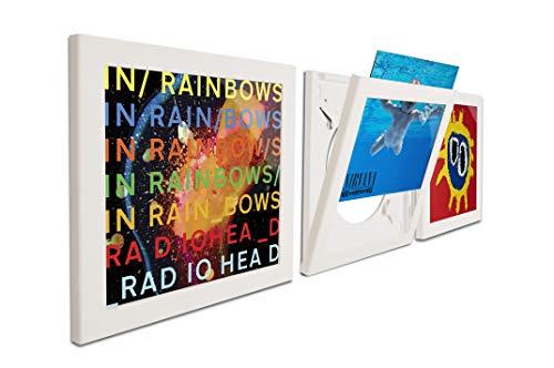 Art Vinyl Play&Display Schallplattenrahmen, Frame für Vinyl und LP Cover, dekorativer Wechselrahmen, 3er-Set weiß