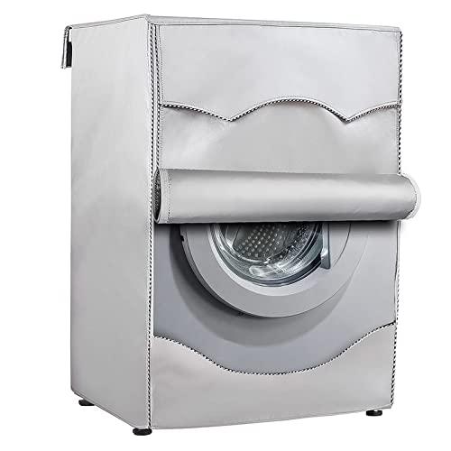 Funda impermeable para lavadora y secadora con carga frontal, antipolvo, antirayos UV, antilluvia 210D, tela Oxford gruesa (60 x 50 x 85 cm)