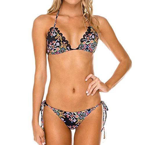 nobrand Europäische und amerikanische Bikini Dreieck Soft Bag Spitze Spitze sexy Badeanzug Damen Badebekleidung