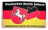 Fahne / Flagge Deutschland Niedersachse durch die Gnade Gottes + gratis Sticker, Flaggenfritze®