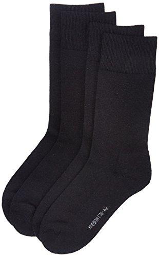 Hudson Herren Socken mit Plüschsohle, 024784 Only Plush, 2er Pack, Gr. 39/42, Schwarz (Black 0005)