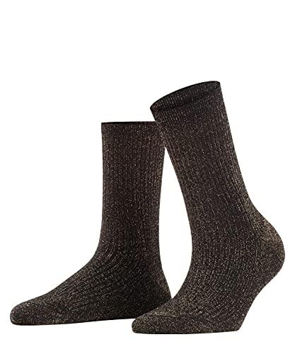 FALKE Damen Shiny Rib W SO Socken, Schwarz (Black 3000), 39-42
