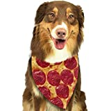 Baked Sausage Pizza Dog Bandana,Dog Bandanas Triangle Bibs Scarf Accessories for Small Medium Large Dogs Cats Pets Animals