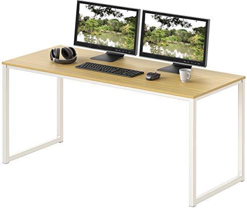 """SHW Home Office - Scrivania per computer da 48"""", colore: Bianco/Rovere"""