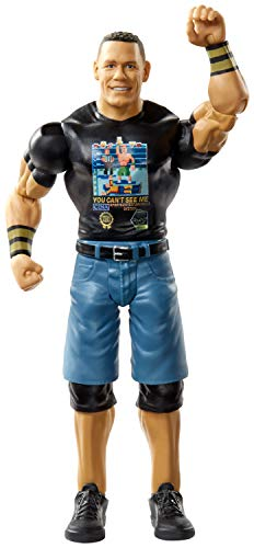 WWE John Cena Action Figure in 6-inch Scale with Articulation & Ring Gear, Series #100