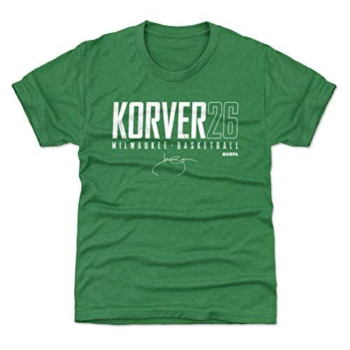 500 LEVEL Kyle Korver Milwaukee Youth Shirt (Kids Shirt, Small (6-7Y), Heather Kelly Green) - Kyle Korver Milwaukee Elite WHT
