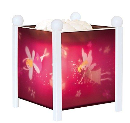 Trousselier 4312W Magische Laterne Prinzessinnen, Holz, Kunststoff, Papier, Metall, Weiß