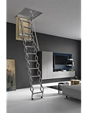 ¡HASTA 150 Kg DE CARGA! Escalera plegable y escamoteable para hueco de 60x70 cm.