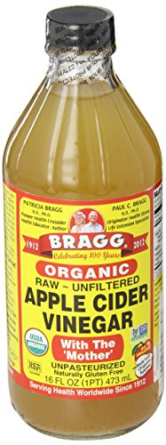 Bragg Organic Apple Cider Vinegar with the mother - Bio Apfelessig mit Essigmutter, roh und ungefiltert, 473 ml