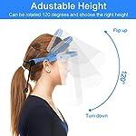 Pantalla Protección Facial Transparente, UNTIRE 3 soporte + 20 fundas Protector Facial, Desmontable,... #1