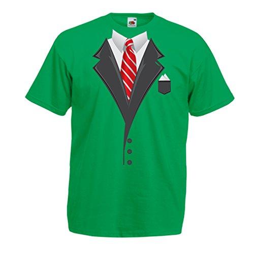 N4553 Männer T-Shirt Look Like a Boss! (Large Grün Mehrfarben)