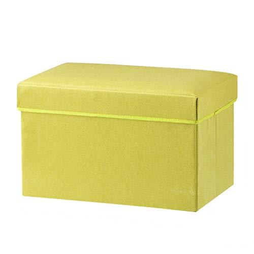 Wddwarmhome Tabouret de Rangement pour boîte de Rangement, Pouf Pliable, en Tissu Non tissé - Poids Maximal 100 kg - Facile à Nettoyer (Couleur : Green)