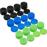 24 Piezas de Tapas de Empuñaduras de Pulgar Reemplazo de Silicona Cubiertas de Palos Analógicos Tapas de Controlador de Joystick Antideslizantes para Xbox One