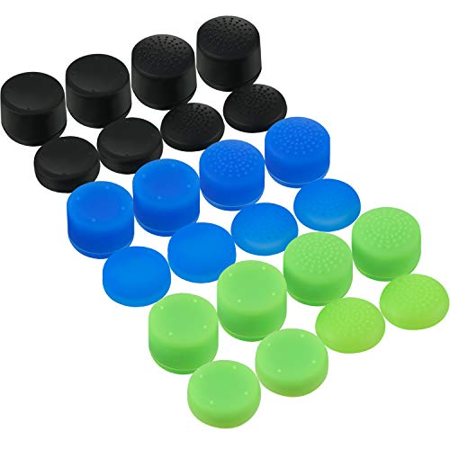 24 Pieces Thumb Grips Silicone Replacement Analog Stick Covers Anti-slip Joystick Controller Caps for Xbox One
