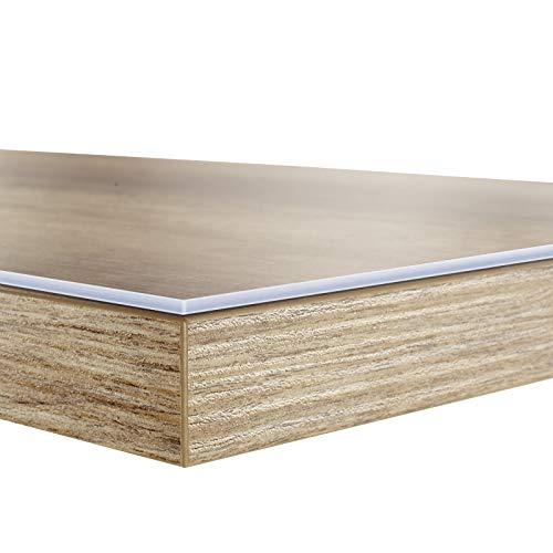 Tischfolie in vielen Größen | Tischdecke transparent und abwaschbar | schützt Ihren Tisch vor Schmutz und Kratzern | Schutzfolie/Tischschoner 50x100 cm