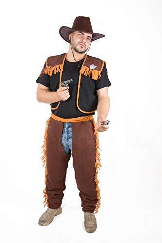 Costumizate! Disfraz de Vaquero Adulto Especial para Fiestas de Disfraces y Carnaval Talla Unica