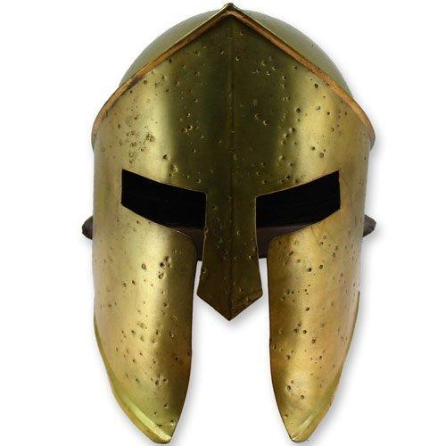 King Leonidas 300 Spartan Helmet Armor - Functional Steel Brazen Brass Finish