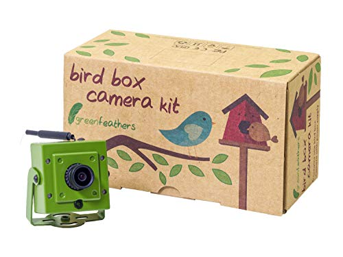 Green Feathers Wildlife Wi-Fi Bird Box Full HD 1080p Camera with Night Vision