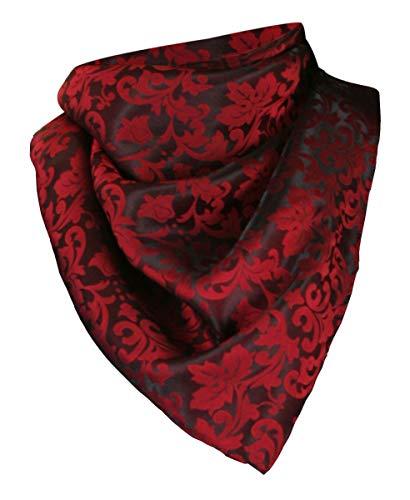 Historical Emporium Men's Silk Blend Jacquard Neckerchief Red/Black